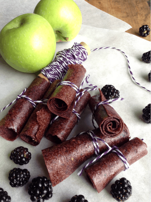 Blackberry Apple Fruit Leather (Image Courtesy of Salt in My Coffee)