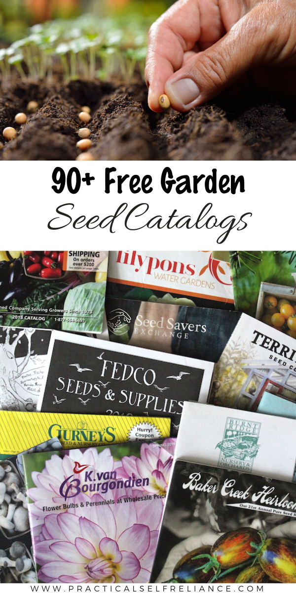90+ Free Garden Free Seed Catalogs (And Nursery Catalogs) ~ Find the right seed for your garden this year by choosing a seed catalog thats best for your growing region and goals. Conventional, Organic, Non-GMO, Plants, Starts, Bulbs and More!