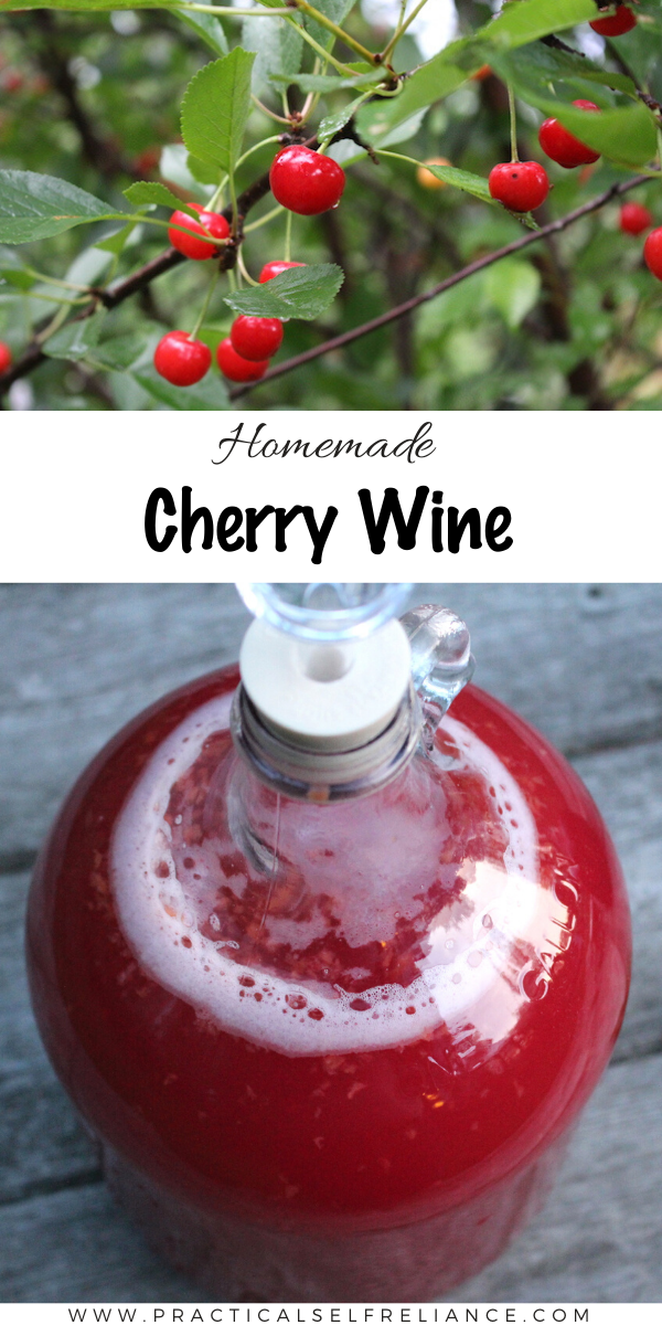 Homemade Cherry Wine