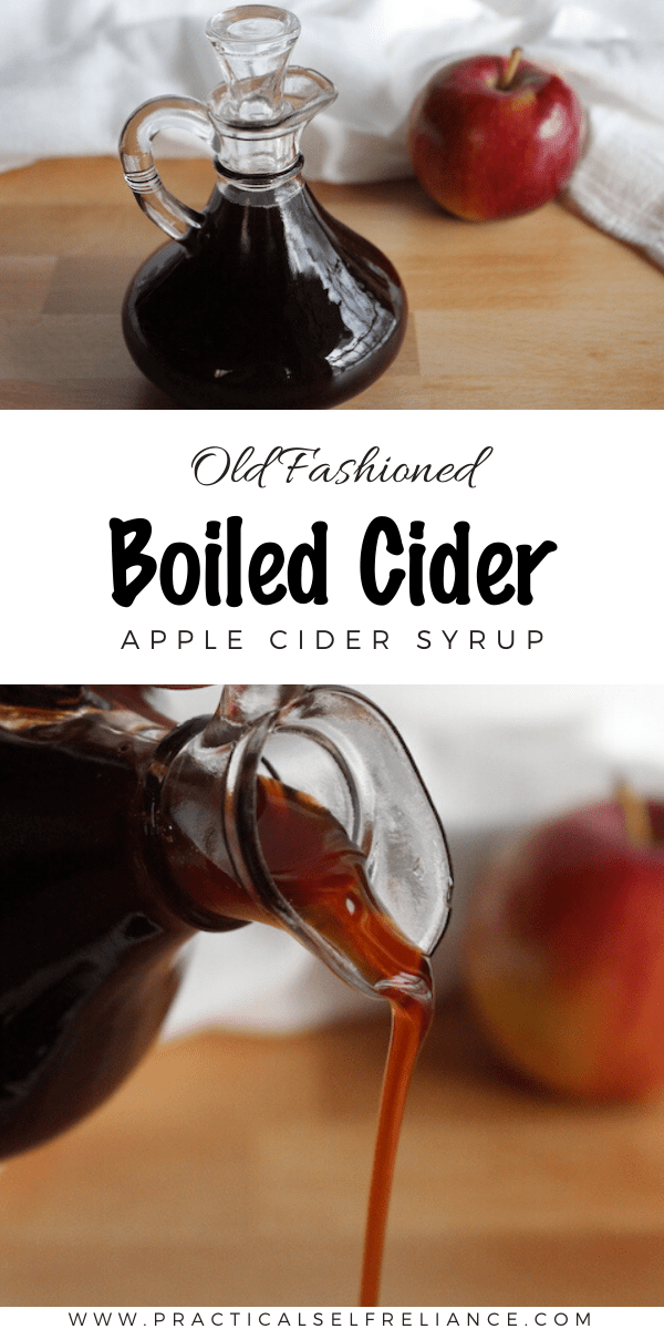 Homemade Apple Cider Syrup ~ Boiled cider is a simple one ingredient syrup that's been made for generations. Learn how to make old fashioned boiled cider from this traditional recipe.