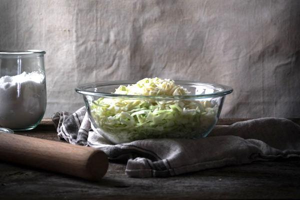Sliced cabbage and sauerkraut making equipment