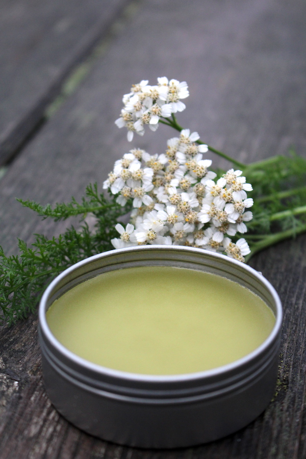 Yarrow has been used for millenia to stop bleeding and treat minor wounds. A healing salve helps preserve the herb, and ensures that it's on hand when needed.
