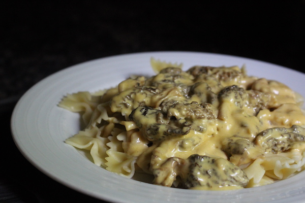 Our own morel cream sauce served over pasta.