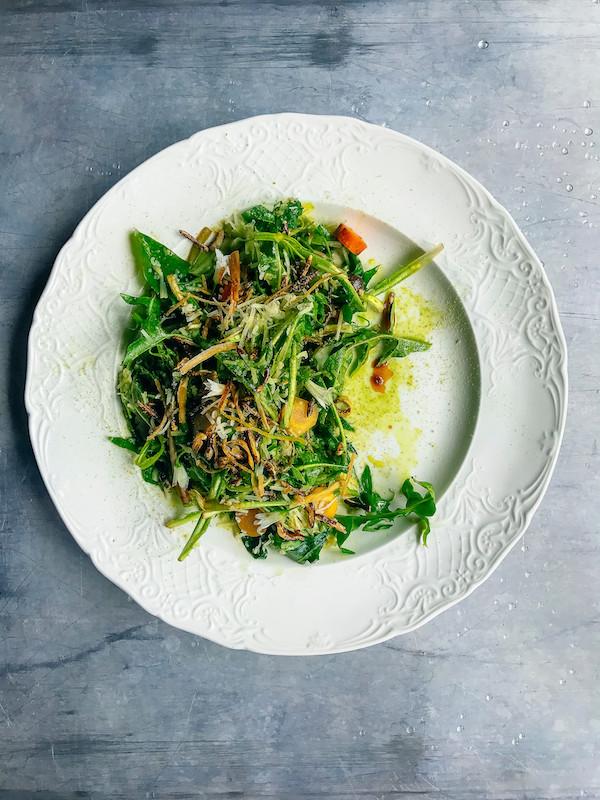 dandelion puntarelle salad