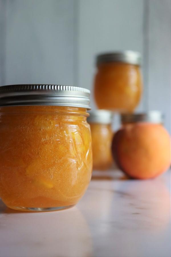 Fresh peach jam