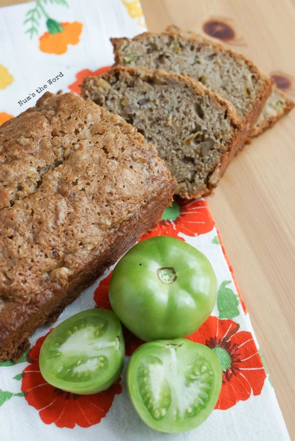 Green tomato quick bread from Nums the Word
