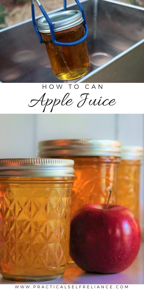Canning Apple Juice ~ Learn how to water bath can apple juice for long term preservation. (Including a simple method for extracting apple juice without a juicer.)
