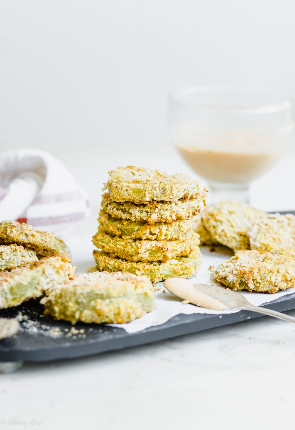 Oven Fried Green Tomatoes from Sweet Cayenne