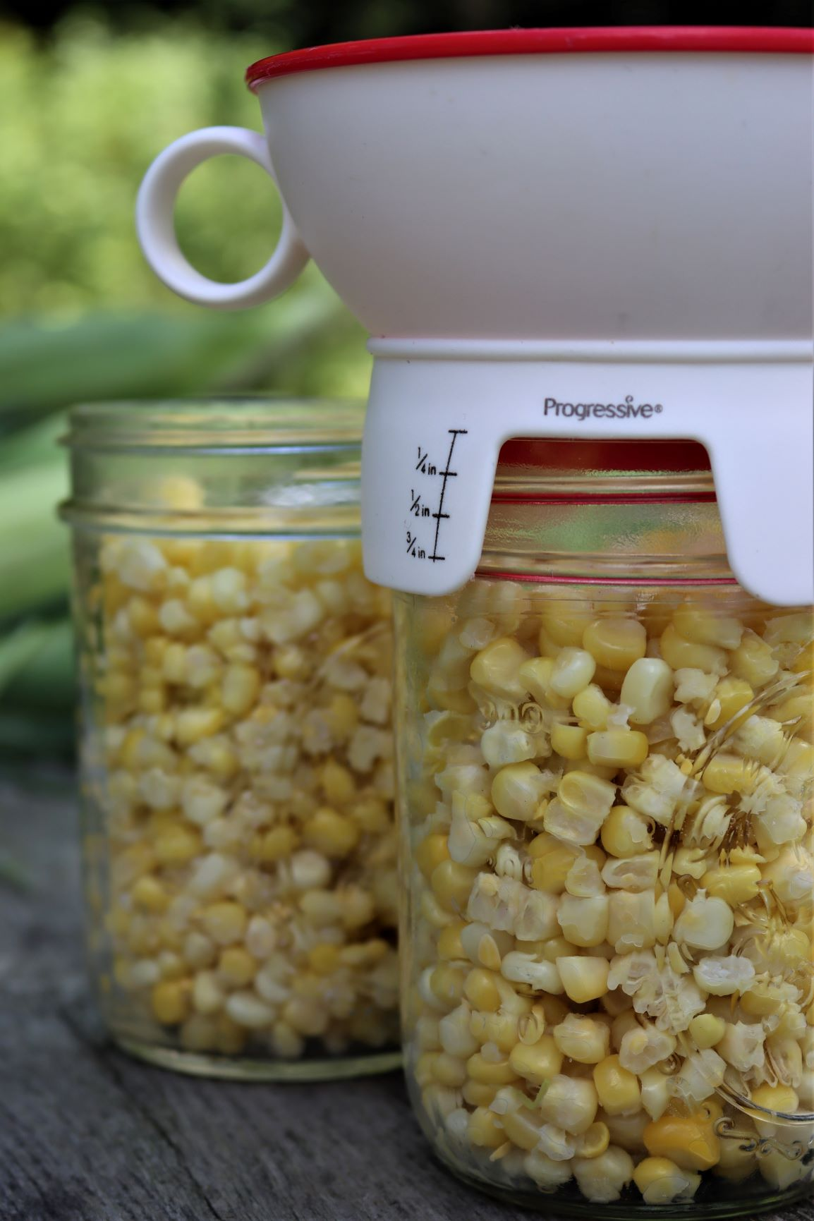 Headspace for Canning Corn