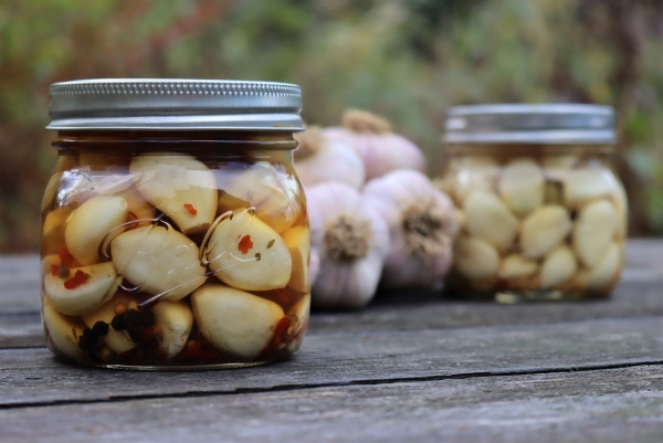 My own homemade pickled garlic