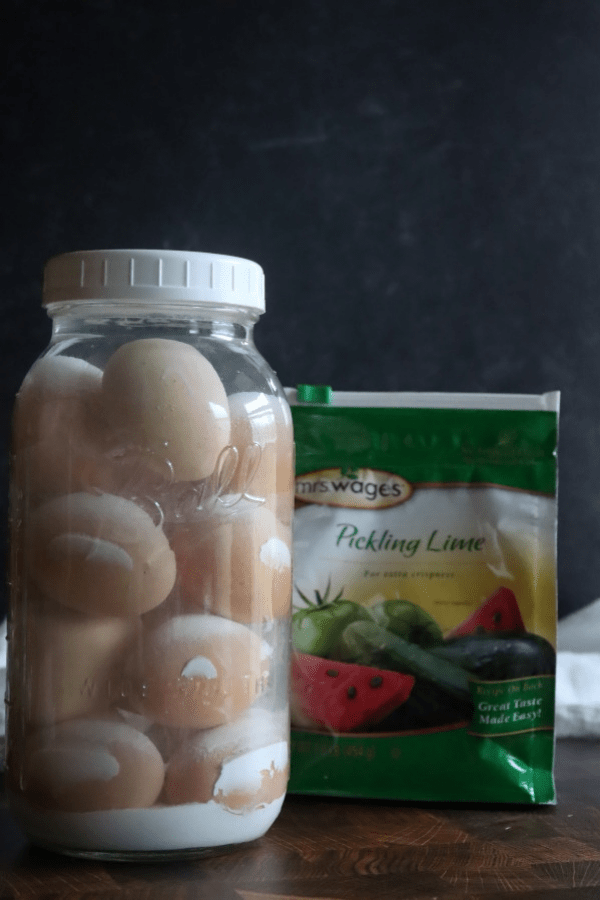 Preserving Eggs in Lime