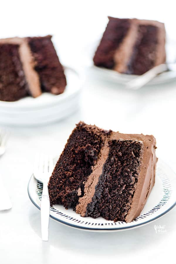 Gluten-Free Sourdough Chocolate Cake from What the Fork Blog