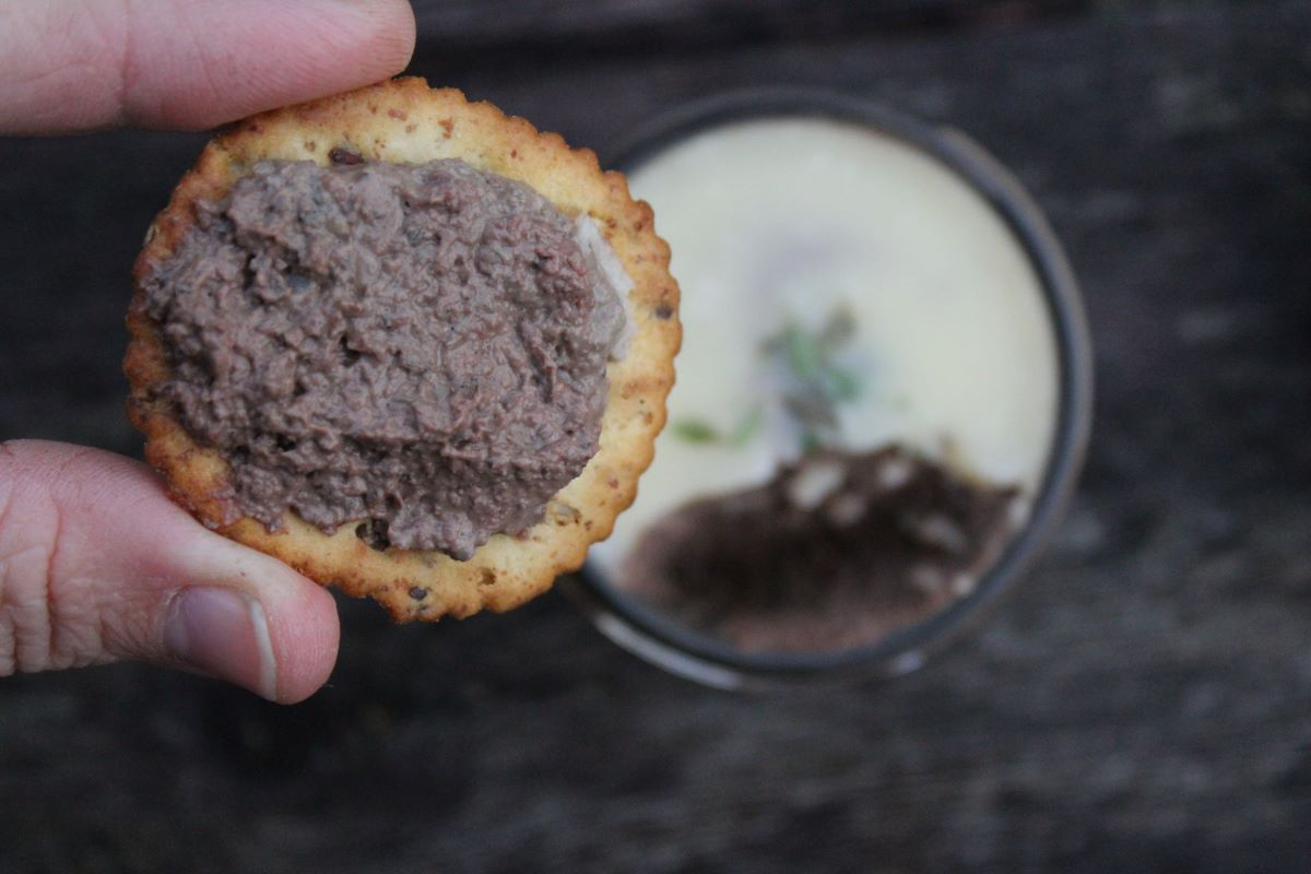 Liver Pate on Crackers