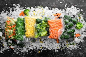 Freezing Vegetables ~ Vegetables frozen in vacuum sealed bags