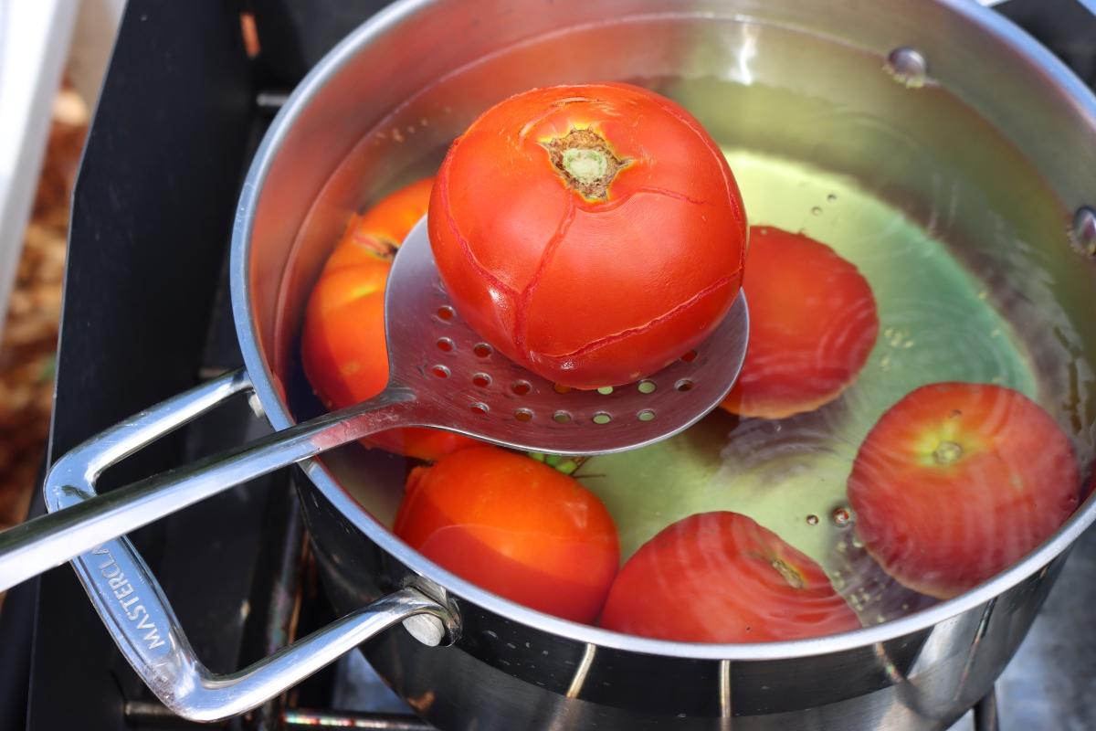 Tomato Cracked for Peeling