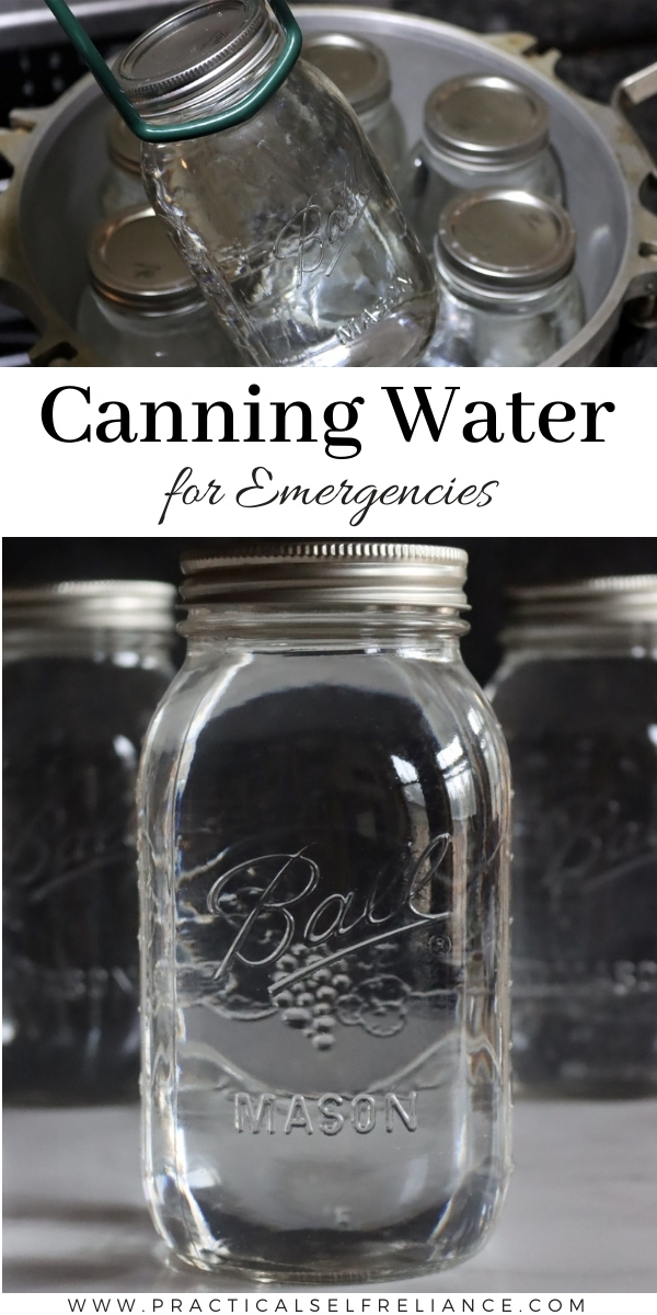 Canning Water for Emergencies