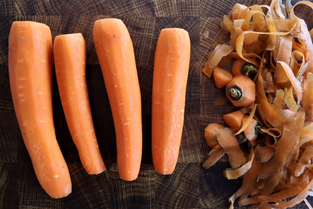 Peeling Carrots for Pickling
