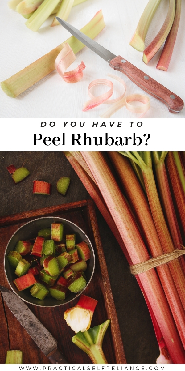 Do You Have to Peel Rhubarb