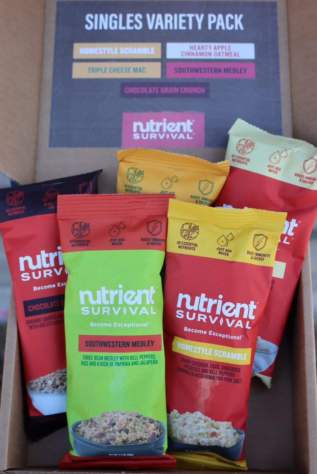 Nutrient Survival Singles Variety Pack