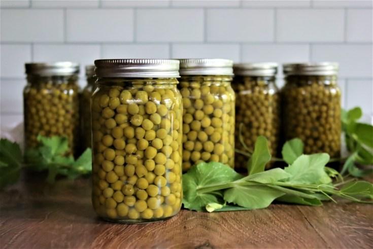 Pressure Canning Peas