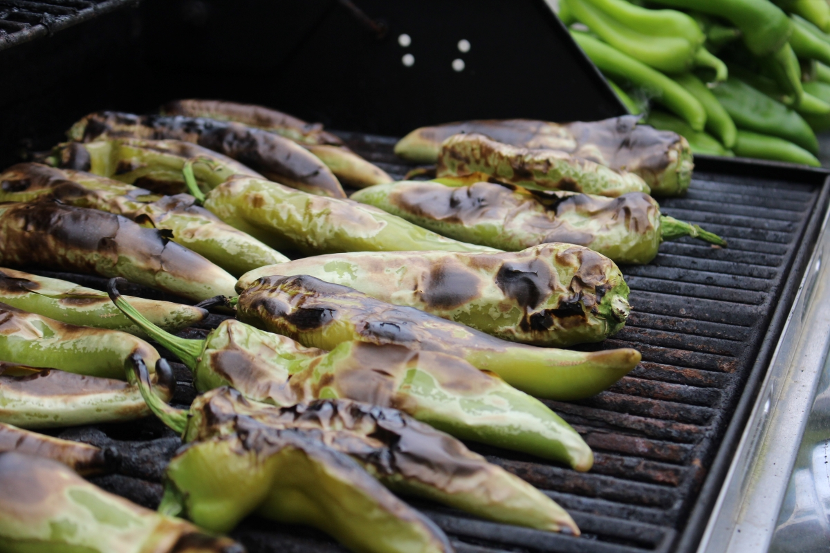 Roasting Hatch Chili for Canning