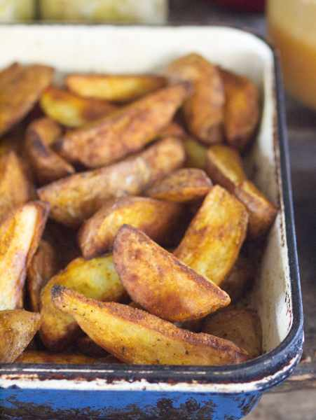 Fries Baked in a Wood Cookstove