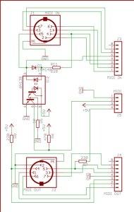 Midi-board-circuit