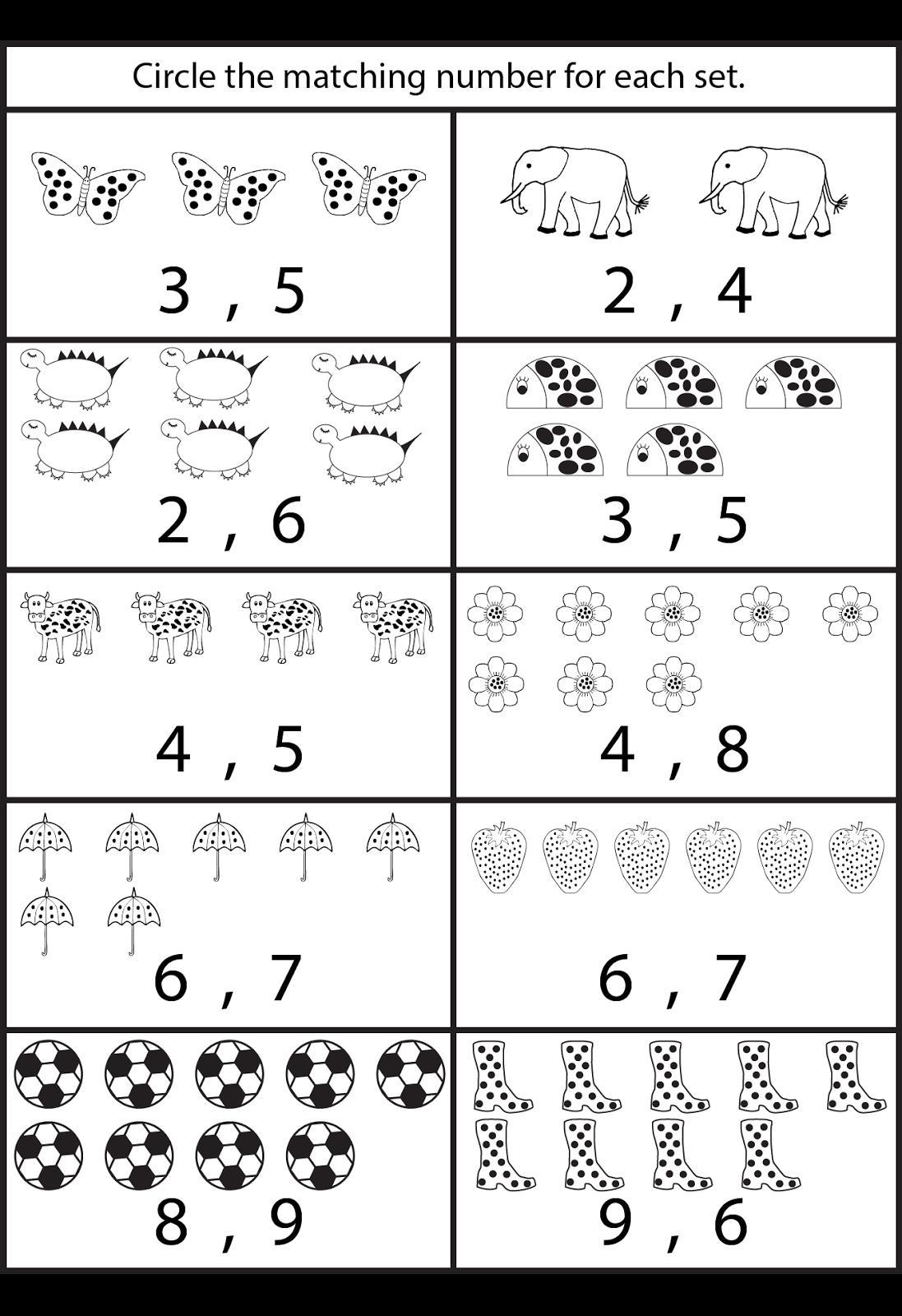 Practice Worksheets For Jr Kg