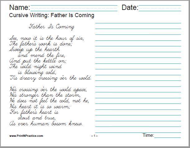 Handwriting Practice Worksheets 6th Grade – Practice Worksheets