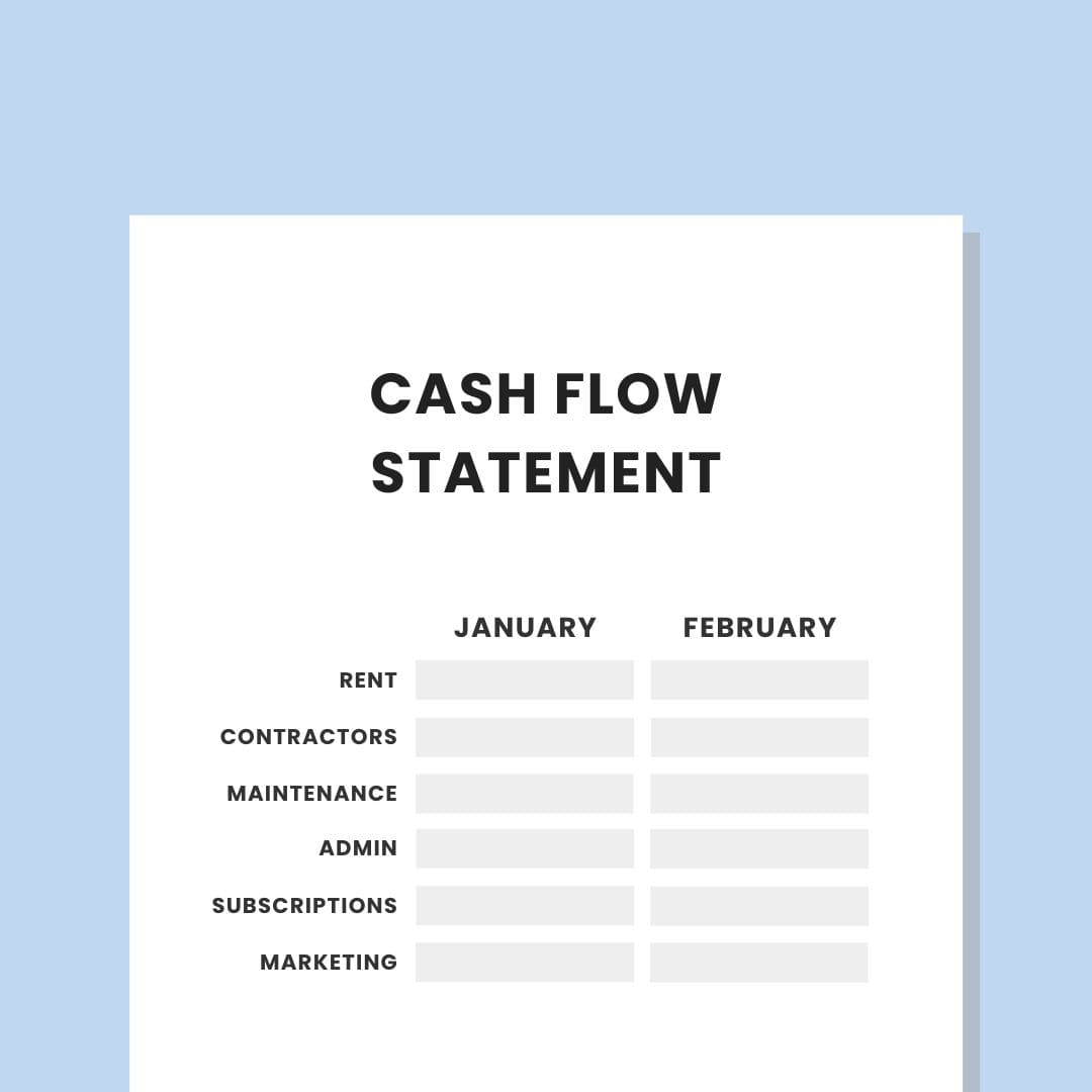 Private Practice 12 Month Cash Flow Template