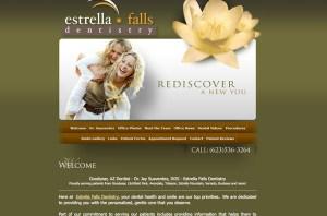 Dental website design example