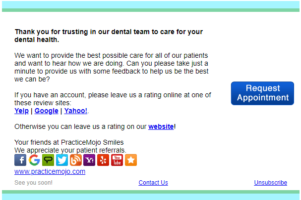 Reviews Request for Dentists