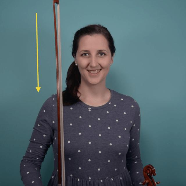 down bow violin