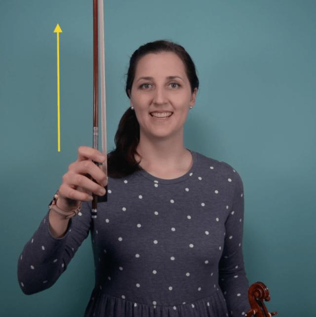 up bow violin
