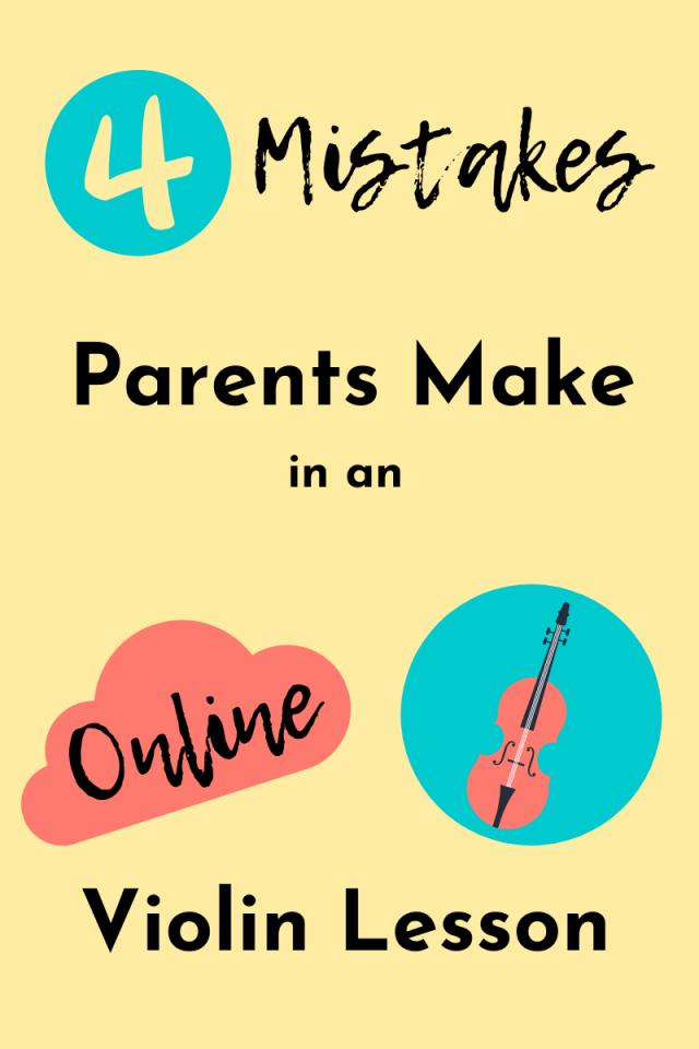 online violin lesson mistake
