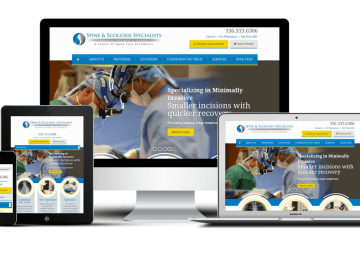 triadspine.com responsive medical website