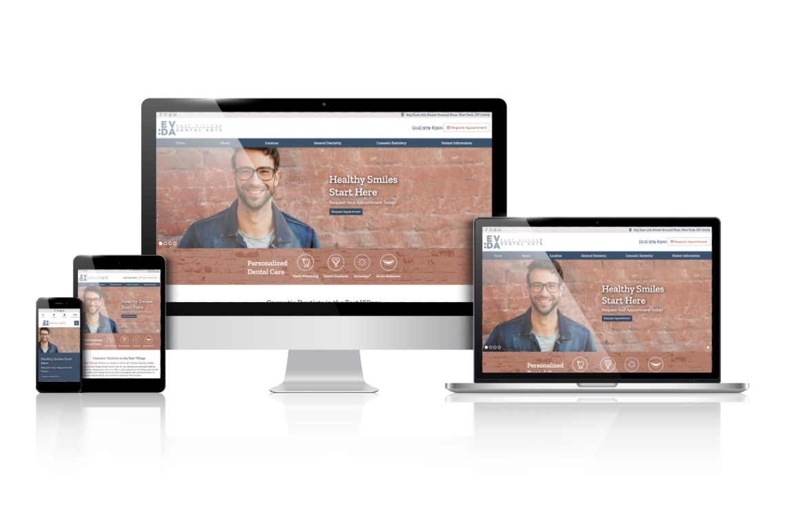 east village dental website design