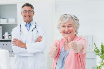 Happy patient with doctor