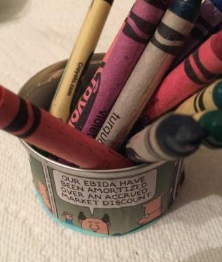 individual crayon holder