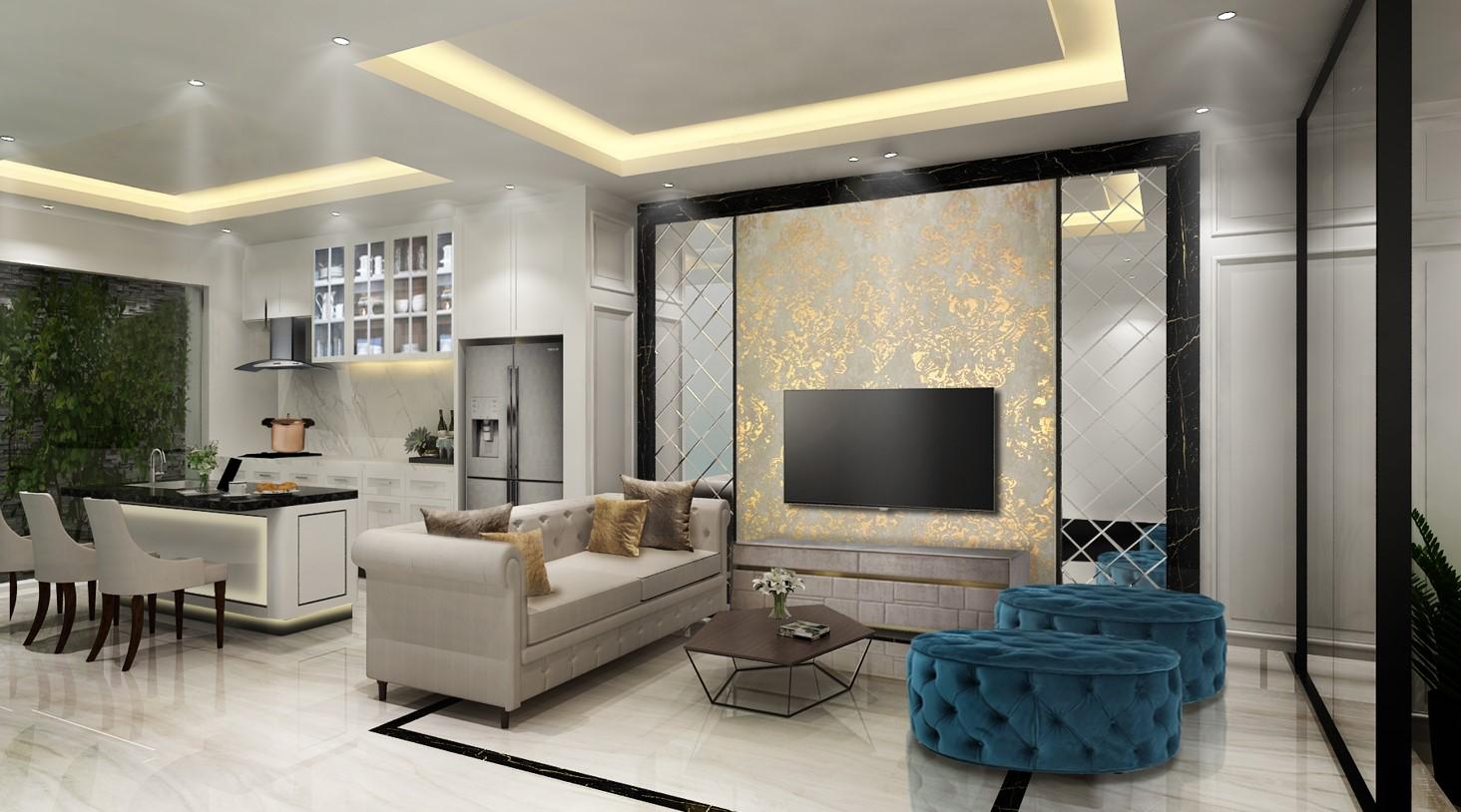 Desain Interior Rumah Klasik Jakarta 4