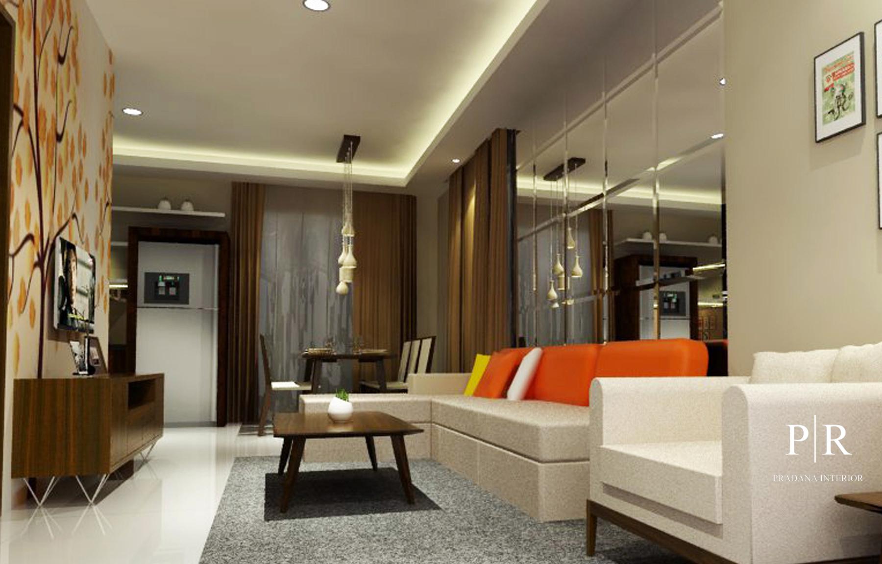 Jasa Desain Interior Apartemen Jakarta - Living room 2