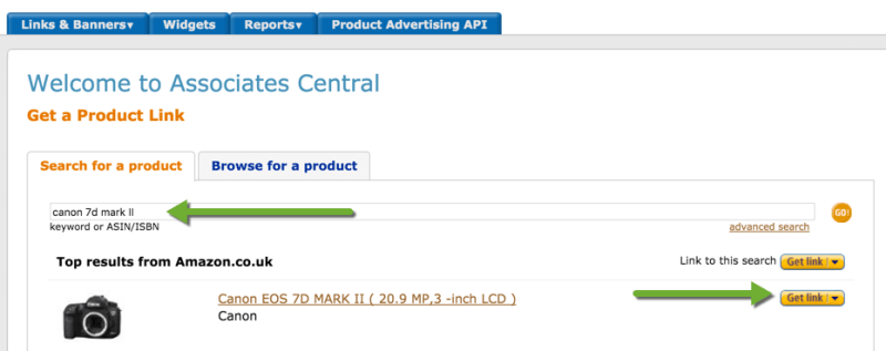 Creating Links Amazon Associates Program Affiliate