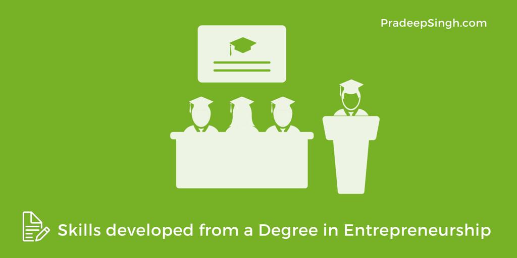 Skills that I developed from a Degree in Entrepreneurship