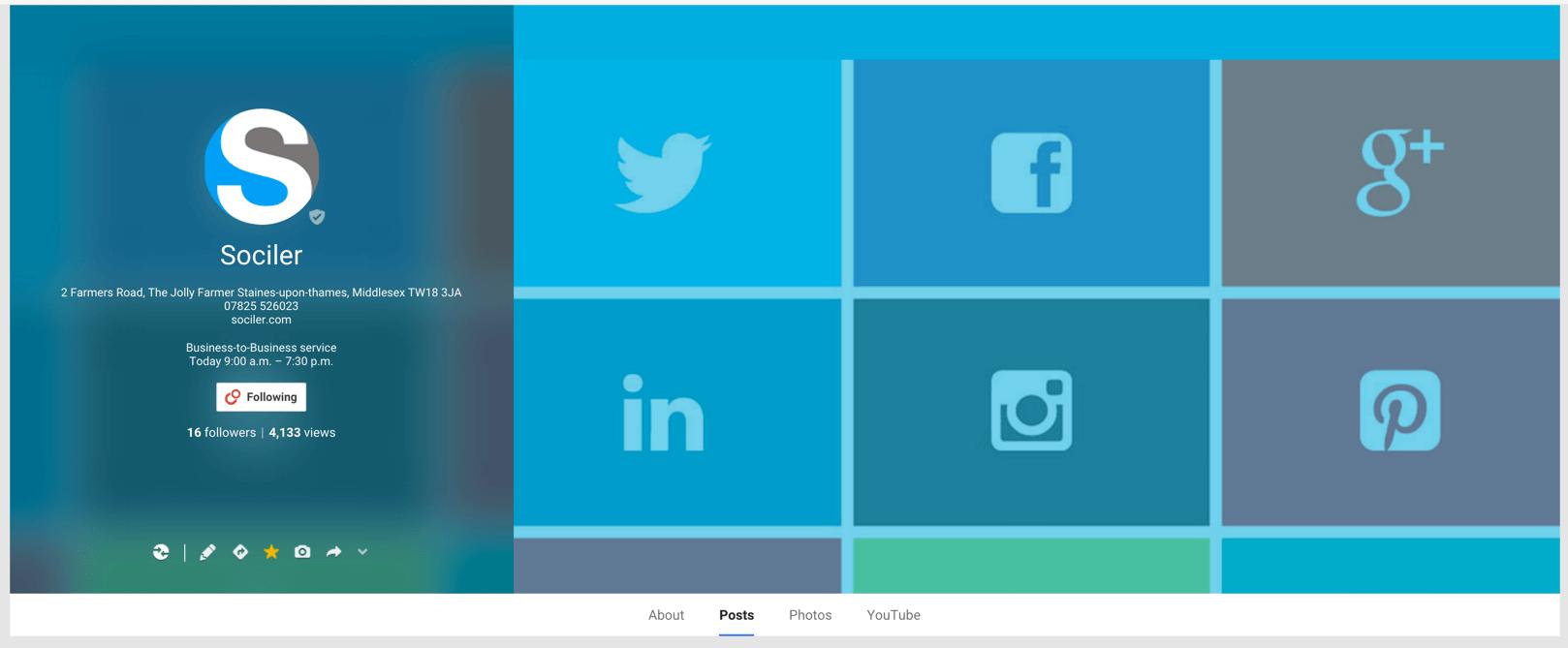 Sociler Social Media Google Plus Page