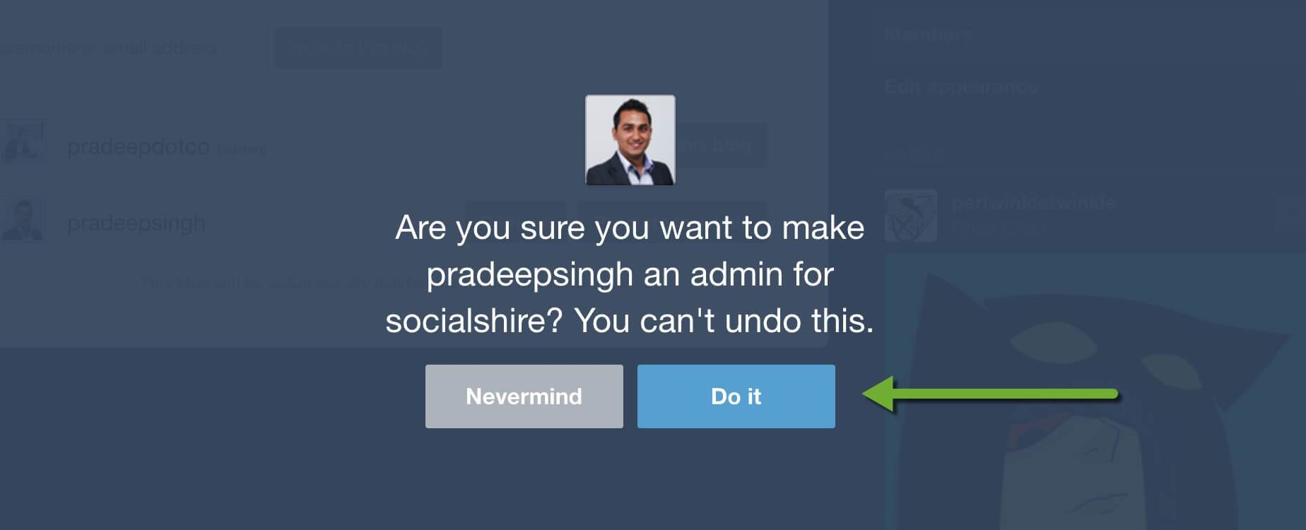 Tumblr Notification to Change to New Account Admin