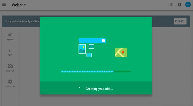 animated progress bar Google My Business Creating your Website