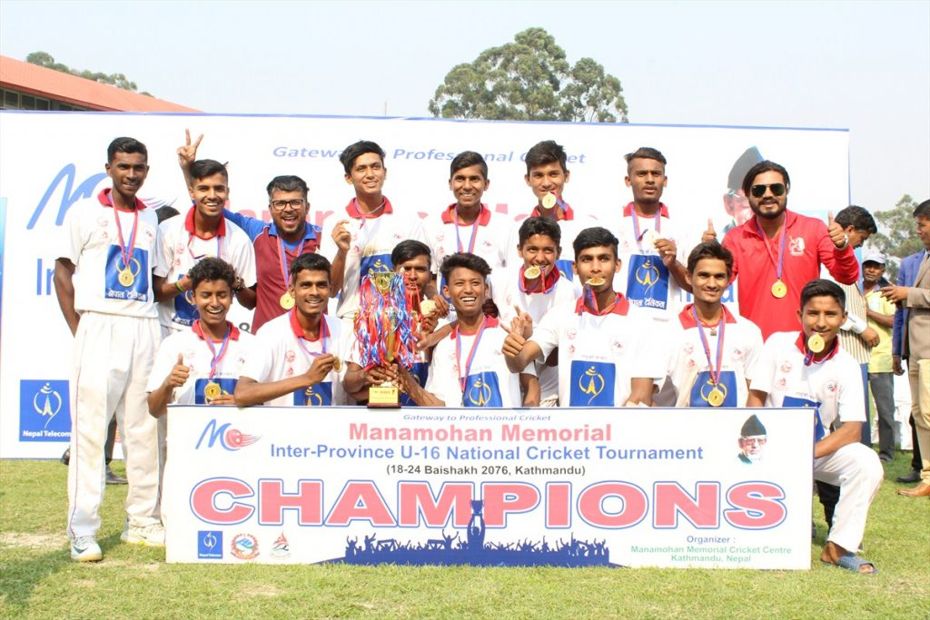 प्रदेश २ मनमोहन मेमोरियल यू १६ राष्ट्रिय क्रिकेट च्याम्पियन, सुवास सर्वोकृष्ट खेलाडी