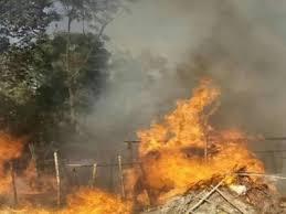 जनकपुरमा ३ वटा होटलमा आगलागी, ९ वटा सिलिन्डर पड्किदा होटल जलेर नष्ट
