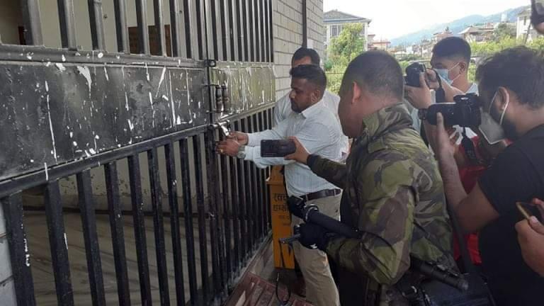 प्रेस चौतारीद्वारा पत्रकार महासंघ कास्कीमा तालाबन्दी