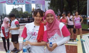 Kak Amel and me, before running